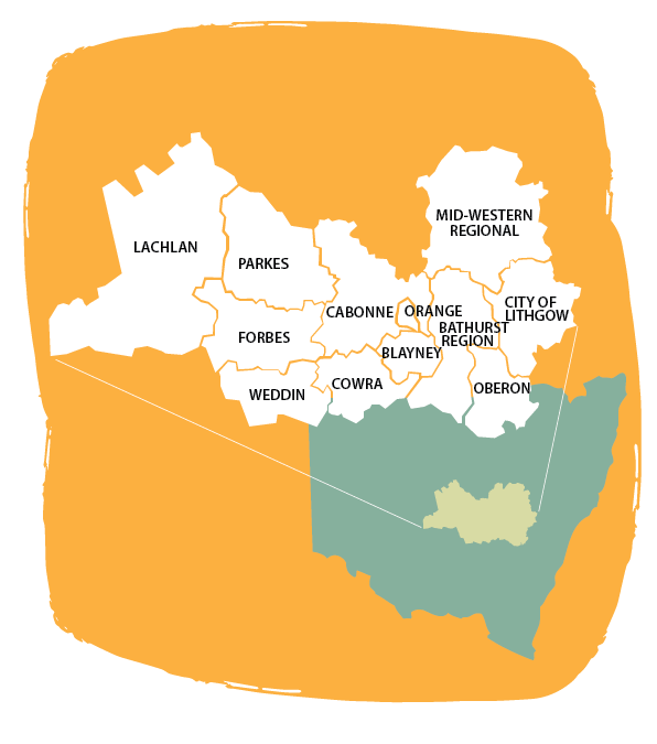 Central NSW LGA map